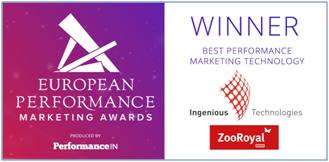 "Ingenious Technologies wins ""Best Performance Marketing Technology 2016"" in Europe"