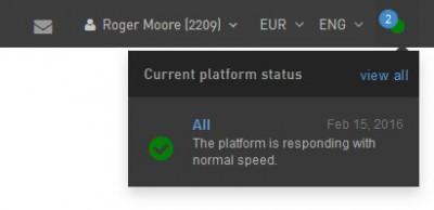 current platform status