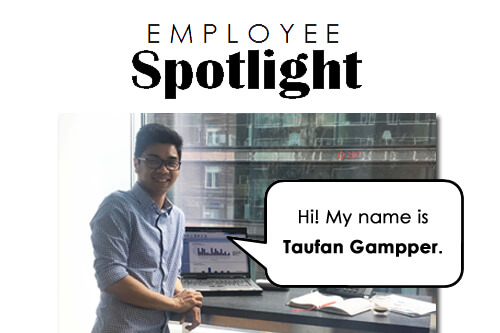 Employee Spotlight design Taufan