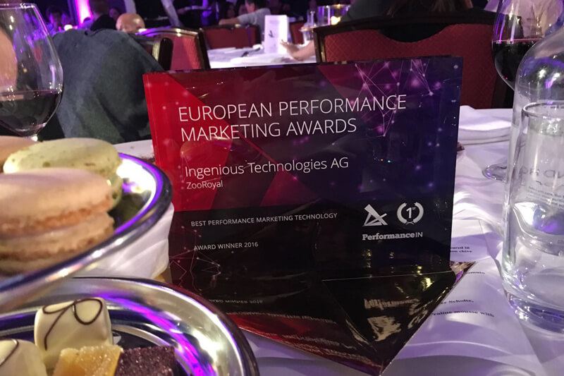 Ingenious Technologies is Best Performance Marketing Technology 2016 in Europe