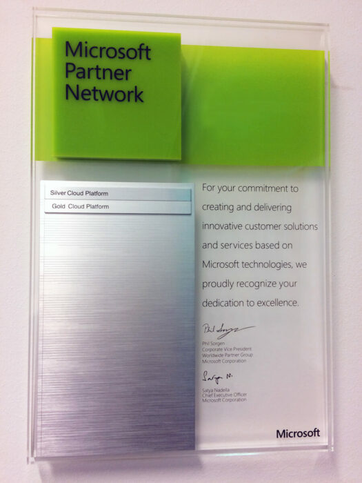 Microsoft Partner - Gold Competency