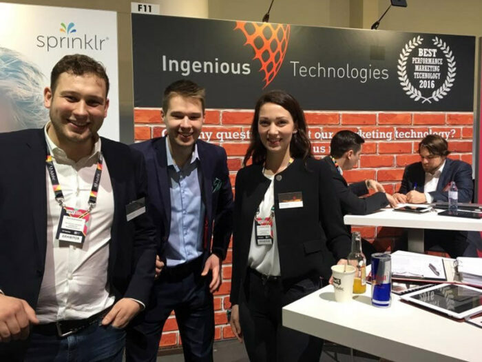 Ingenious Team with Weps co-founder Juhan Kaarma at OMR17
