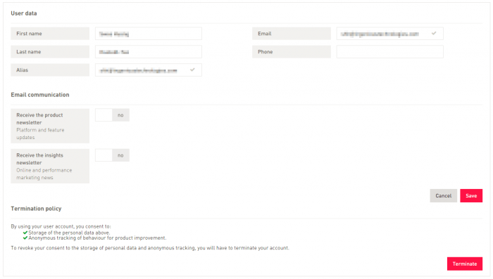 GDPR update: Enhanced user profile settings andrights and roles options