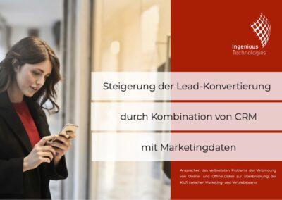 Steigerung der Lead-Konvertierung durch Kombination von CRM mit Marketingdaten