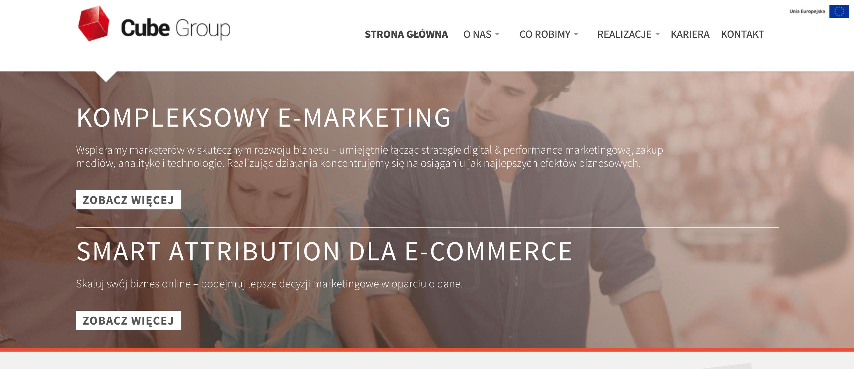 Cube Group website screenshot